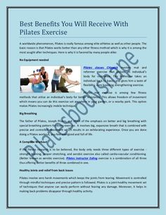 Best Benefits You Will Receive With Pilates Exercise