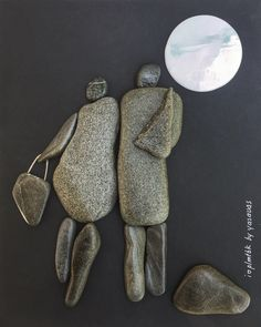 Pebble art , i love plmtbk by yasavas , instagram:yasavas