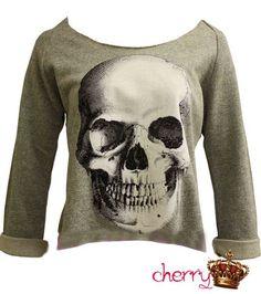 skull sweat shirt
