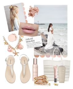 """""""Blushing Beach Mama Infinity Maternity Gown by Sew Trendy"""" by sewtrendy on Polyvore featuring Deborah Lippmann, H&M, Show Beauty, SPINELLI KILCOLLIN, Elemis, Burberry, Bobbi Brown Cosmetics and Anastasia Beverly Hills"""