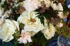 Garden Style Wedding Centerpiece   Gatherings by Caroline Quinn - Lake Lure, North Carolina