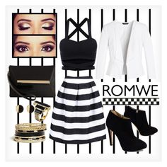 """Romwe"" by ina-kis ❤ liked on Polyvore featuring Forum, White House Black Market, Giuseppe Zanotti, GUESS, House of Harlow 1960 and Ted Baker"
