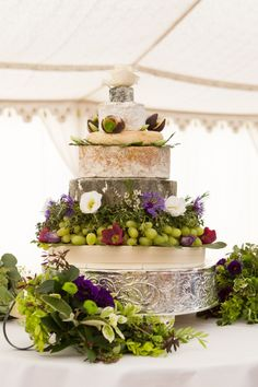 Cheese wedding cake - really wish I liked cheese more!