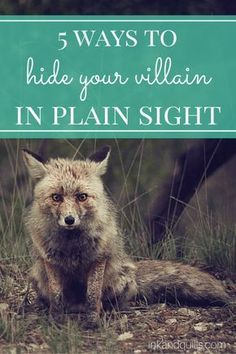 Sometimes, you want to hide the bad guys in your story to fool your readers--and your characters! Learn 5 tricks for camouflaging your villain! Book Writing Tips, Writing Quotes, Writing Process, Fiction Writing, Writing Resources, Writing Help, Writing Skills, Writing Ideas, Writing A Novel