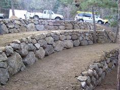 Broadmoor boulder retaining wall