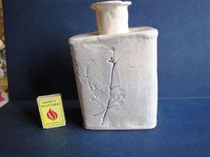 Vintage Vase decor handmade carved picture white scandinavian