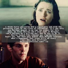 Yeah. That scene hurt something awful. And yet, inexplicably, that was when I loved Morgana most.
