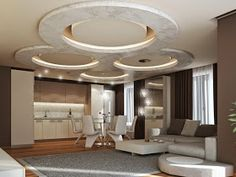 modern false ceiling designs of gypsum board with hidden ceiling lights