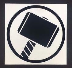 Logotipo de Marvel Los Vengadores Los Thor Pegatina De Vinilo Auto Adhesivo  Vinilo Calcomanía | eBay