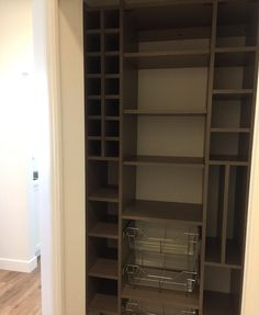"""28 Likes, 2 Comments - Designer Closet Guys (@designerclosetguys) on Instagram: """"On site today and this great little pantry with a spot for everything is done! #whatsinyourcloset…"""""""