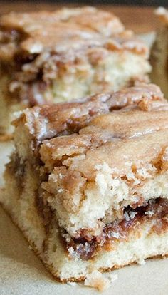 Cinnamon Roll Cake (from scratch) I wonder if I could substitute some of the sugars and make these for dad...