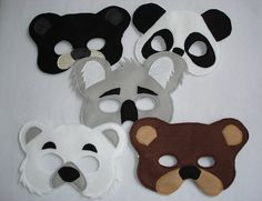 Hey, I found this really awesome Etsy listing at https://www.etsy.com/listing/127047884/set-of-5-bear-felt-masks-for-children