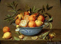 Jacob van Hulsdonck - Still Life with Oranges and Lemons in a Wan-Li Porcelain Dish