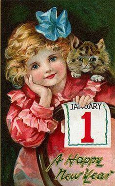 Cartes anciennes  bonne année                                                                                                                                                      Plus