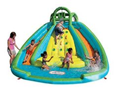 Little Tikes Rocky Mountain River Race Inflatable Slide Bouncer Kids Water Toys, Kids Water Slide, Water Slide Bounce House, Water Slides, Pool Slides, Pool Water, Pool Fun, Summer Pool, Kid Pool