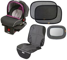 Graco SungRider Click Connect Infant 35 Car Seat with Back Seat Mirror Sunshades  Car Seat Mat Nyssa ** Want additional info? Click on the image.
