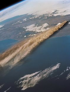Volcanic eruption from space , from Iryna