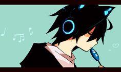 月Lまとめ [6] | Pixiv | Death Note | L | Lawliet | Headphones | Cat Ears | Lollipop | Neko