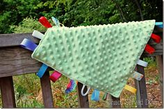 How to Make a Tag Blankie!  TheFrugalGirls.com #baby