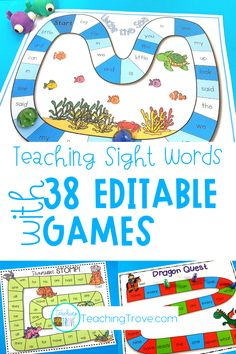 Editable games are perfect for differentiating your sight words, phonics and spelling. With 38 different games in this pack, you will have a wide range of sight word, phonics, spelling or word work games you can create in seconds! It is easy to create differentiated centers for all your 1st grade and 2nd grade students.