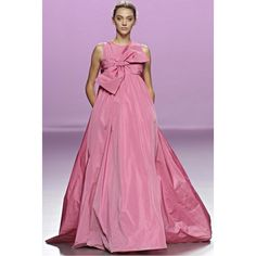 The 2nd Skin Co Pink Taffeta Evening Gown With Bow (10 320 SEK) ❤ liked on Polyvore featuring dresses, gowns, pink, taffeta dress, empire waist dress, purple evening dresses, sleeveless dress and pink evening dress