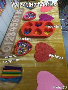 "Sorting, counting & pattern-making with Valentine Maths - from Rachel ("",)"