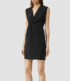 Women's Salma Dress (Black) - product_image_alt_text_2
