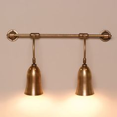 A beautiful handmade two arm brass wall light with ball joints so the lights can both be angled. A stylish light for any kitchen Indoor Wall Lights, Ceiling Lights, Traditional Wall Lighting, Pantry Cupboard, Cottage Lighting, Brass Kitchen, Contemporary Classic, House Wall, Cool Walls