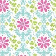 Home / Fabric Designers / Jules Davis / Garden of Delights / Bee Bloom in Turquoise