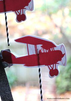 Flying airplane kids craft to make