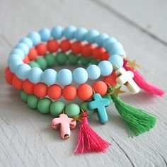Be blessed - colourfull bracelets, armbandjes by NORR - happy handmade jewelry LIVE LAUGH LOVE