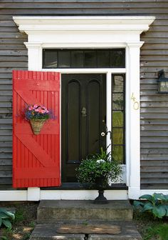 .I've heard that your door should only be painted Red when your house gets paid off. ? I'm too lazy to look up.