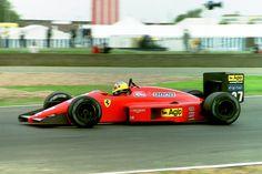 Michele Alboreto (ITA) (Scuderia Ferrari SpA SEFAC), Ferrari F1/87 - Ferrari Tipo 033 1.5 V6 (t/c - 4.0 Bar limited) (RET)  1987 British Grand Prix, Silverstone Circuit