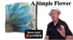 Beginners, Acrylic, Painting ,Tutorial- A Simple Flower