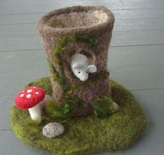 Wee needle-felted world. Love.