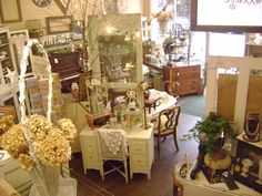 for all the antique stores and resale clients I work with - techniques to subdivide a room, create vignettes, use the center of the store, etc. furniture placement in stations