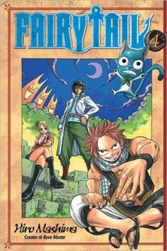Fairy Tail, Volume 4 by Hiro Mashima. Click on the cover to see if the book's available at Otis Library.
