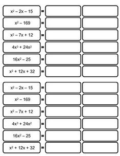 Factoring Activity by Nella Geometry Activities, Math Activities, Maths Tricks, Ap Chemistry, Class 8, Love Math, Sai Baba, Math Lessons, Students
