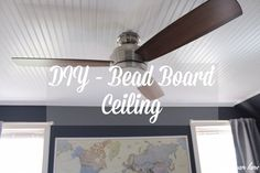 We are finally done our oldest son's bedroom! I wanted to share how we added the bead board ceiling which in my opinion adds so much character to the room…