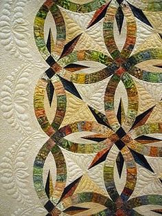 Detail  A Hint of Fall  Pattern is Wedding Star by Judy Neimeyer diaryofaquiltmave...