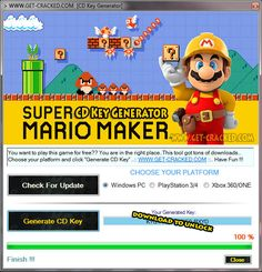 Super Mario Maker CD Key Generator Full Game Download 2016