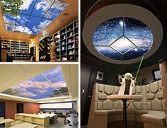 This is a cool website with faux windows and skylights.  They also have other cool lighting.