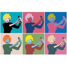 Print Colorido em Photoshop Selfie Marilyn Monroe