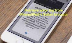 Retrieve error log from Safari browser on iPhone/ iPad | iOS error log - https://www.careiphone.com/retrieve-error-log-from-safari-browser-on-iphone-ipad-ios-error-log/