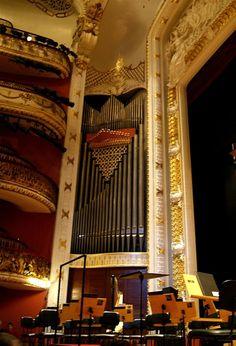 Sala de concerto do Teatro Municipal de São Paulo - detalhe do órgão
