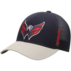 e6f43ab71ea Washington Capitals Reebok Center Ice Travel   Training Adjustable Hat -  Navy