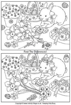Spot the difference printables