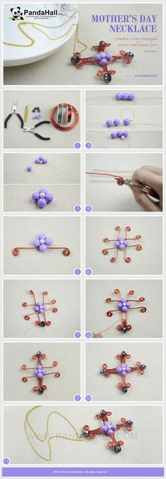 Jewelry Making Idea--How to DIY Wire Wrapped Cross Necklaces