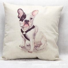 Free Shipping Wholesale 100% New Trade Wholesale Sitting Cute Dog Linen Furnishing Cushion Pillow on sofa for home decoration #Affiliate