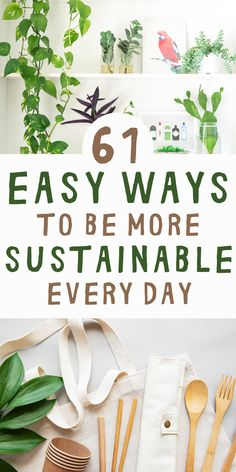Our planet is in crisis, and it's our job to make changes to our daily habits. This article has 61 e Reduce Waste, Zero Waste, Green Living Tips, Sustainable Living, Sustainable Ideas, Sustainable Energy, Eco Friendly House, Clean Living, Green Life